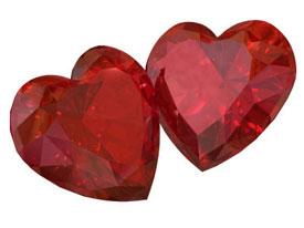 рубин-символ любви