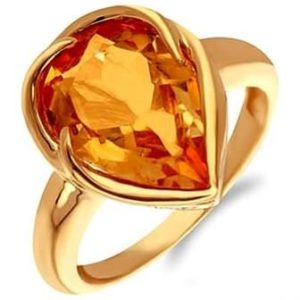 цитрин кольцо