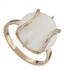 кольцо белый оникс