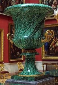 ваза малахит