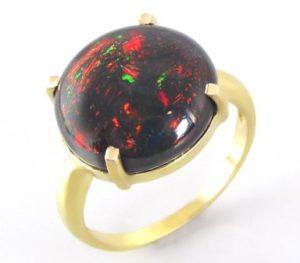 кольцо_черный опал