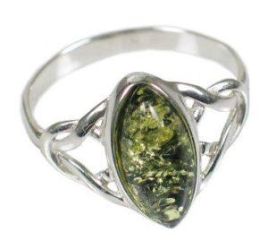 кольцо_зеленый янтарь