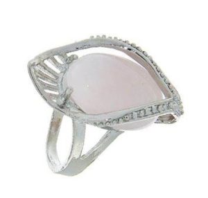 Кольцо-белый кварц