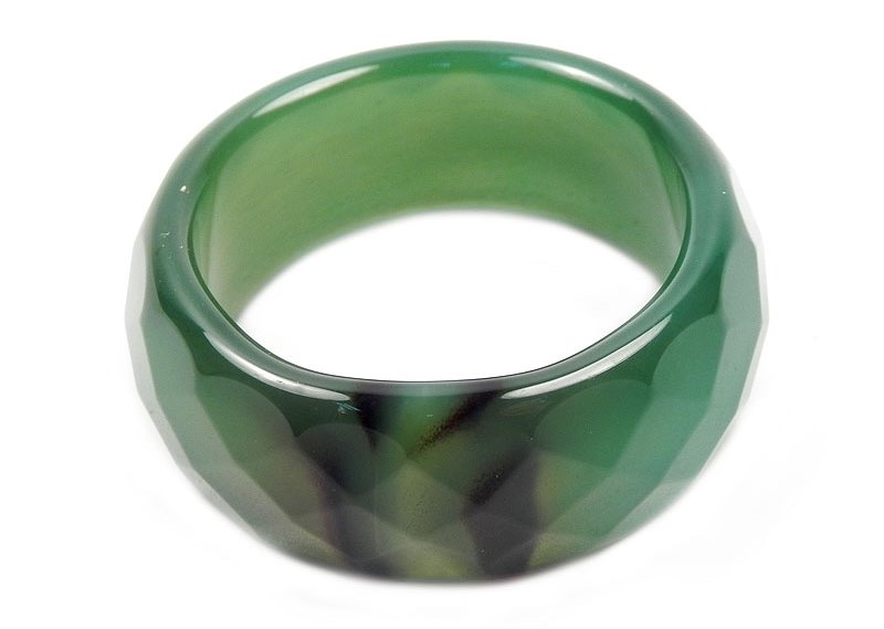 кольцо из зеленого кварца